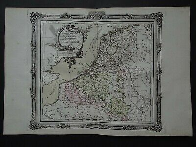 1766 BRION  Atlas map  NETHERLANDS - PAYS BAS - Holland - Belgium