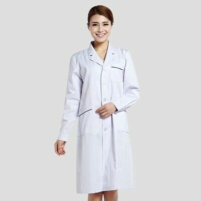 Surgical Gown White Doctor's Coat Medical Uniform Clinic Lab Hospital Workwear
