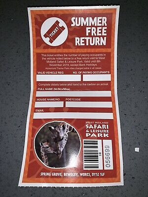 West Midlands Safari Park Ticket
