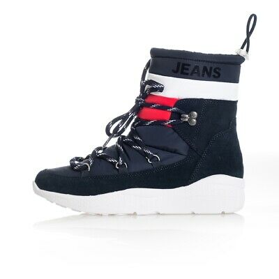 Stivali Donna Tommy Hilfiger Corporate Padded Nylon Boot En0En00671.403 Shoes Wo