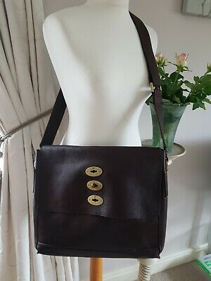 Brynmore Brown Genuine Leather Large Cross Body Messenger Bag
