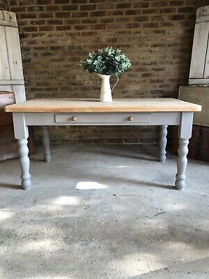 Rustic Farmhouse Pine Kitchen Dining Refectory Table 6 seater