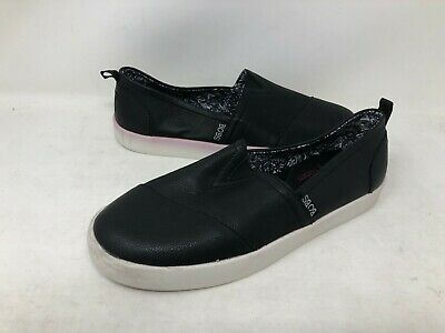 NEW! Skechers Women's RISE AND SPARKLE Slip On Shoes Blk/Wht #31386 e19a a
