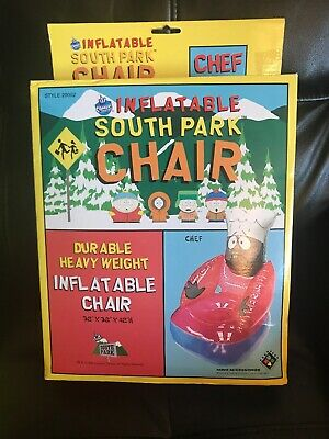 Inflatable South Park Chair: Chef - NEW / NIB - UNOPENED! (Vintage, 1998) RARE