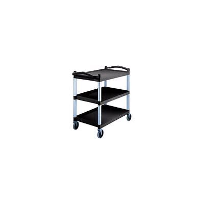 Cambro BC340KD110 Black 3 Shelf Knockdown Utility Cart