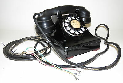 Vintage Western Electric Metal 302 Desk Telephone ~ working condition