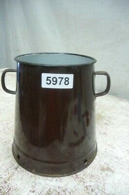 5978. Alter Emaille Email Topf Old enamel pot