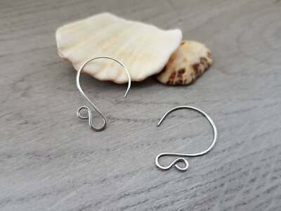 Stainless Steel Circle Ear Wires | HANDMADE TO ORDER | 5/10/20 Pairs | LUNA