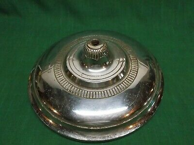 Vintage cast iron chrome plated floor lamp base. Replacement parts.