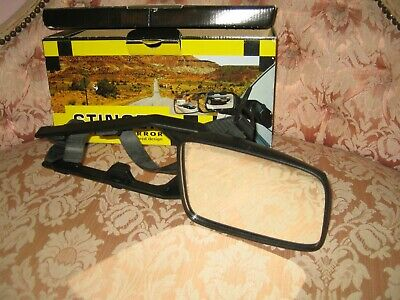 Stinger Caravan Car Mirror - With Double support arms for strength