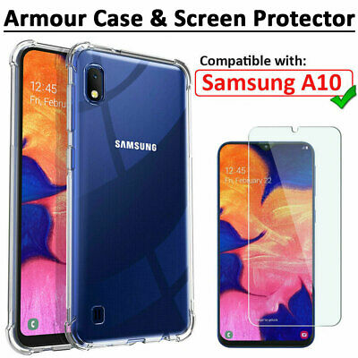 Case for Samsung Galaxy A10 Shockproof Clear AIR Case & Screen Protector