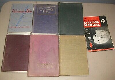 Vintage Lot Tube Radio TV Books Manual Victrola Book Antenna Radio Amateur