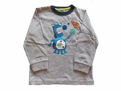 NWT Boy's Gymboree Star Brights gray long sleeve alien shirt ~ 2T