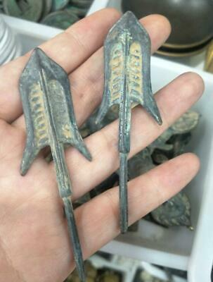 2pcs special ancient Chinese bronzes with different types of arrows &h54
