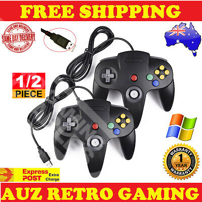 New Nintendo 64 N64 Classic Gamepad Controllers For Usb To Pc & Mac