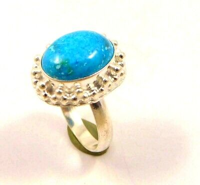 Charming Turquoise Silver Designer Jewelry Ring Size 9.25 JC6409