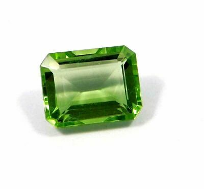 Treated Faceted Green Apatite Gemstone   8.8 CT 13x9 mm RM15304