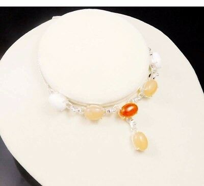 White Opal & Baltic Amber .925 Silver Charming Necklaces Jewelry JC1938-JC1987