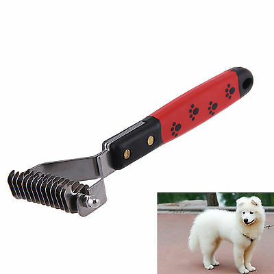 Brush Rake Dog Cat Dematting Grooming Deshedding Trimmer Tool Pet Hair Fur Comb