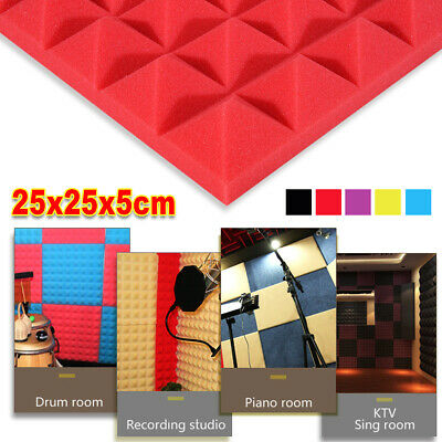 Acoustic Sound Insulation Soundproofing Studio Music Foam Wedge Tiles