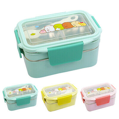 Double Layer Stainless Steel Thermal Insulated Lunch Box Food Picnic Container