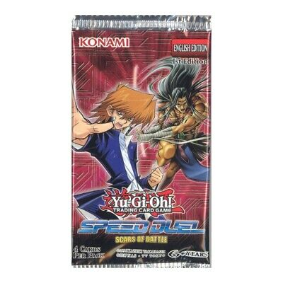 Yu-Gi-Oh Cards - Speed Duel: Scars of Battle - Booster PACK (4 Cards) - Sealed