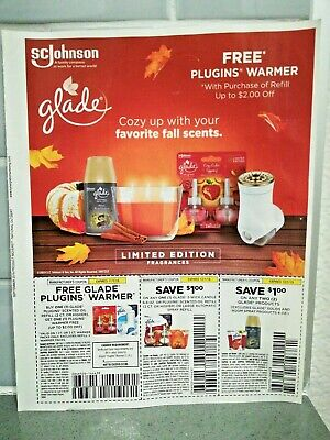 3 Glade Coupons 1) Save on Any Products 2) Candle, Oil, Refill 3) Plugins Warmer