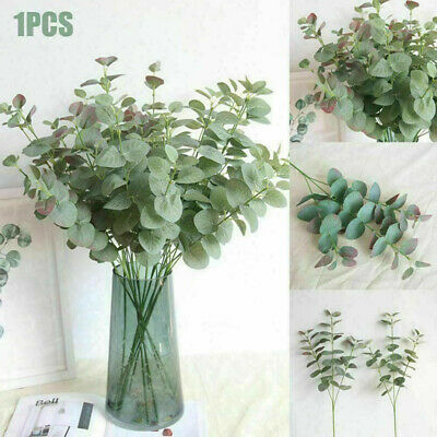 Artificial Fake Leaf Eucalyptus Green Plant Silk Flowers Nordic Home Decor NEW