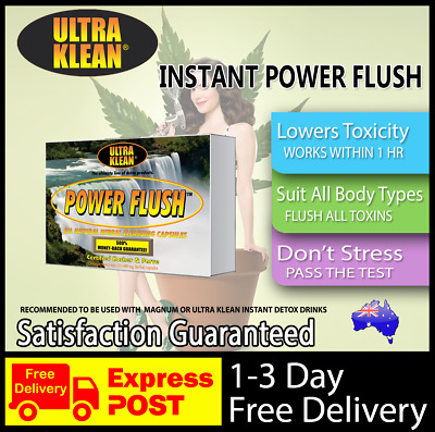 Ultra Klean Power Flush Instant Fast Detox Capsules Clean Clear Urine Drug Test