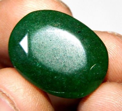 Dyed Faceted Beryl Emerald Wonderful  Loose Gemstone 13 ct 21x19mm F146