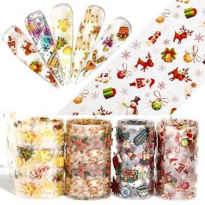 Halloween Nail Foil Stickers Transfer Decals Paper Nail Art Manicure DIY Decor