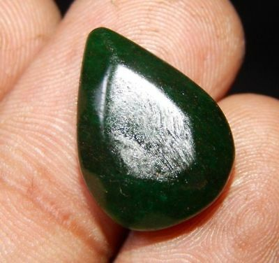 Dyed Faceted Beryl Emerald Top Cabochon Loose Gemstone 12 ct 19x13 F35