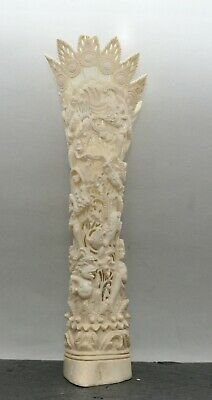 Fine Intricate Buffalo Bone Ornament Hand Carved Stunning Bali Cultural Carving