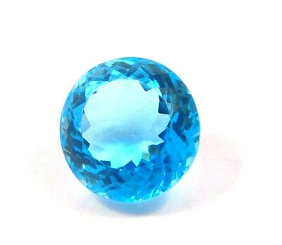 Treated Faceted  Swiss Blue Topas Loose Gemstones 27 CT 17mm RM13809