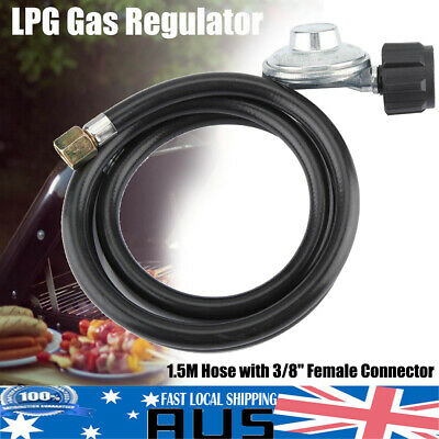 "BBQ Hose & Regulator 3/8"" Female 1500MM - LPG GAS Barbecue Hose and Regulator"