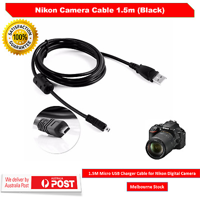 USB Data Charging Cable For Nikon Coolpix L19 L100 S620 UC-E6 S3300 D7100 8Pin