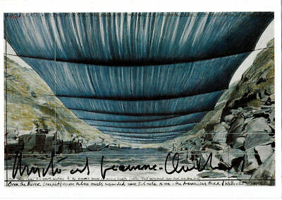 Christo & Jeanne claude over the river AK hand signed