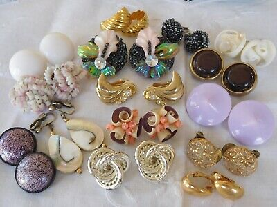 Lovely Mixed Collection of Vintage 1950s/60s/70s Clip ON EARRINGS