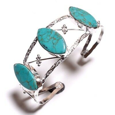 Copper Turquoise .925 Silver Bangle Cuff Charming Jewelry P1-P49