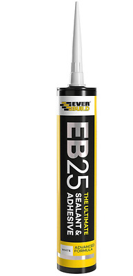 EVERBUILD EB25 The Ultimate SEALANT & Adhesive Hybrid Polymer  White 2 Pack