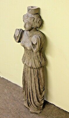"""Beautiful 35"""" Hand Carved Wood Victorian Art Nouveau Style Gothic Lady Figure"""
