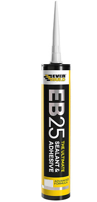 EVERBUILD EB25 The Ultimate SEALANT & Adhesive Hybrid Polymer Clear Pack of 2