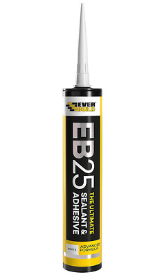 2EVERBUILD EB25 The Ultimate SEALANT & Adhesive Hybrid Polymer Grey Pack of 2