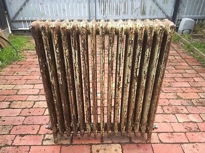 Cast Iron Radiator Heater, NRC, Hydronic, Art Deco Period Antique (1 of 2)