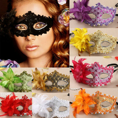 New Women Men Black Lace Eye Face Mask Masquerade Party Ball Prom Costume Charm