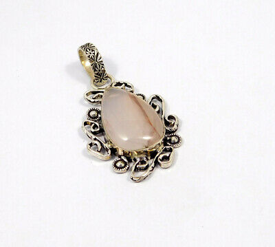 Cherry Quartz .925 Silver Plated Handmade Pendant Jewelry JC7660