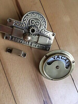 Vintage Victorian  Vacant Engaged Ashwells System Toilet Lock