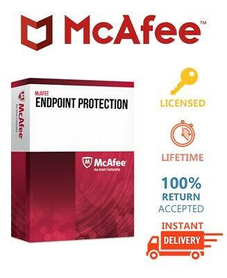 McAfee Endpoint Security 2019 All Preactivated Lifetime License Instant Delivery
