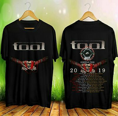 New Tool Band European Tour 2019 with Dates T-shirt For Men's