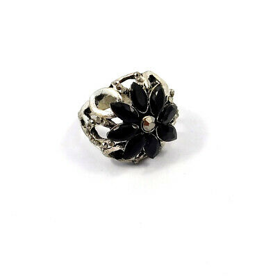 Black Onyx .925 Silver Plated Handmade Ring Size-8.50 Jewelry JC9068